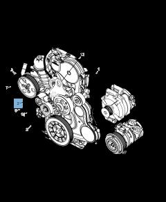 Verstelbare riemspanner voor Jeep Cherokee