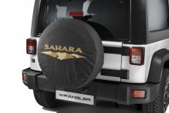 Bescherming voor reservewiel met Sahara-logo