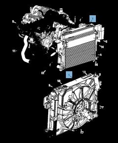 Radiateur motorkoelsysteem voor Jeep