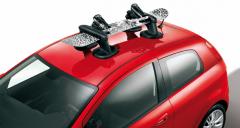 Magnetische ski-/snowboarddrager voor op het dak voor Fiat