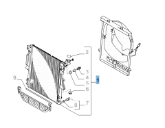 Radiateur motorkoelsysteem voor Fiat en Fiat Professional