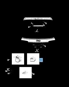 Lamp links achterklep voor Jeep Compass