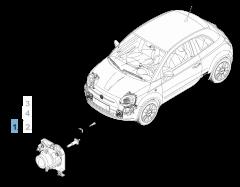 Mistlamp rechts voor Fiat 500