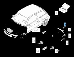 Koplamp linksvoor voor Lancia Ypsilon