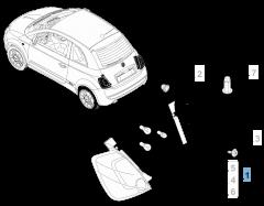 Vast rechter achterlicht voor Fiat 500