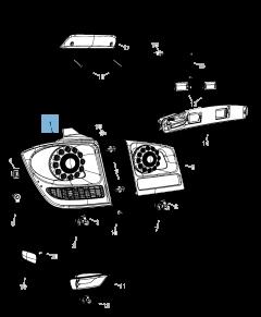 Achterlicht (buitenverlichting, remlicht en richtingaanwijzer) voor Fiat Freemont