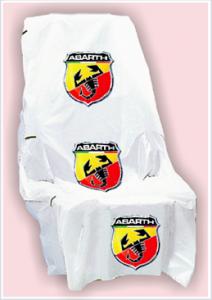 Stoelhoezen met Abarth-logo
