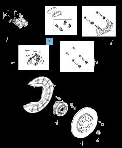 Remblok achterste remschijf (set 4 stuks) voor Jeep Compass