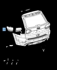 Lamp achterlicht voor Jeep Grand Cherokee