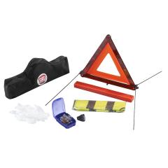 Veiligheidsset met gevarendriehoek en reflecterend veiligheidshes