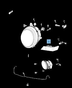 Lamp parkeerlicht en richtingaanwijzer voor Jeep Compass/Patriot