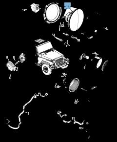 Voorlicht voor Jeep Wrangler