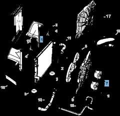 Radiateur motorkoelsysteem voor Lancia Thema