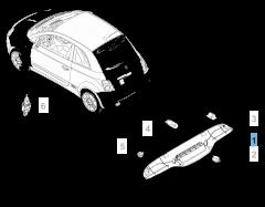 Achterlicht voor Fiat 500