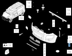 Met primer behandelde voorbumper voor Fiat en Fiat Professional