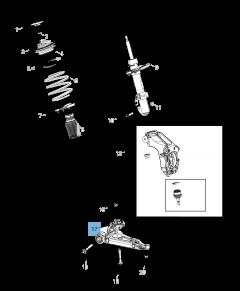 Schommelarm voor voorophanging onder voor Jeep Cherokee