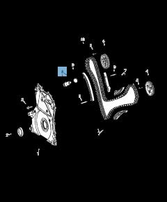 Verstelbare riemspanner voor distributieketting voor Jeep
