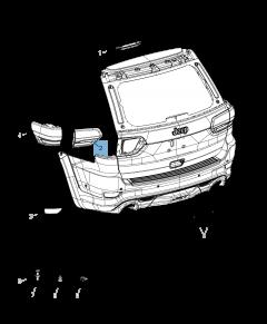 Achteruitrijlicht voor Jeep Grand Cherokee