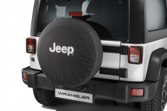 Bescherming voor reservewiel met wit Jeep-logo