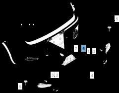 Kentekenplaatverlichting rechts