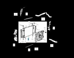 Radiateur motorkoelsysteem voor Lancia Voyager