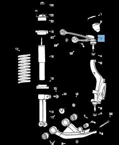 Schommelarm voor voorophanging boven voor Jeep Cherokee