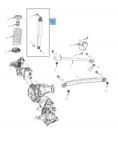 Voorste schokdemper 2 stuks voor Jeep Wrangler