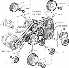 Verstelbare riemspanner