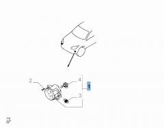 Mistlamp linksvoor voor Fiat en Fiat Professional