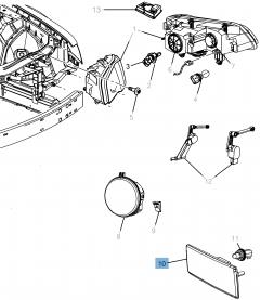 Lampje richtingaanwijzer voor Lancia Thema