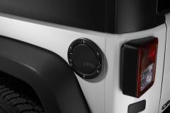 Brandstofdop, gesatineerd zwart, met Jeep-logo