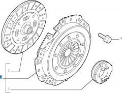 Set koppeling (koppelingsplaat, drukplaat en druklager) voor Lancia Ypsilon
