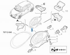 Linker voorlicht voor Alfa Romeo Mito