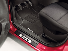 Aluminium instaplijst met opgedrukt logo voor Fiat Panda