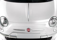 Verchroomde beschermingen op voorbumper voor Fiat 500