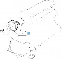 Waterpomp met afdichting