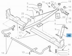 Achterste schokdemper voor zware vrachtwagens met open laadbak 2 stuks voor Fiat en Fiat Professional