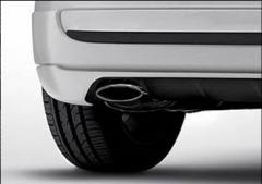 Uitlaat van verchroomd staal voor Fiat 500