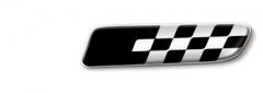 Badge Sport zwart op witte achtergrond