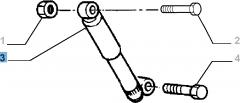 Achterste schokdemper 2 stuks - 2 stuks voor Fiat Professional Strada