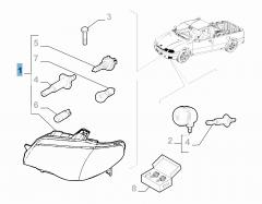 Koplamp linksvoor voor Fiat Professional Strada