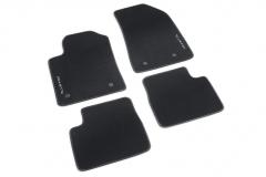 Vloermatten zwart tapijt