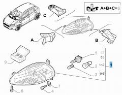 Koplamp rechtsvoor voor Fiat en Fiat Professional