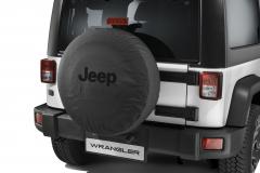 Bescherming voor reservewiel met zwart Jeep-logo