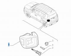 Vast rechter achterlicht voor Jeep Renegade