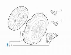 Set koppeling (koppelingsplaat en drukplaat)
