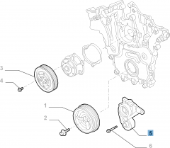 Verstelbare riemspanner voor Alfa Romeo