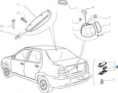Kentekenplaatverlichting voor Fiat