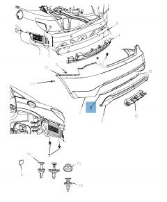 Lamp achterlicht voor Lancia Flavia