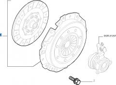 Set koppeling (koppelingsplaat en drukplaat) voor Fiat Stilo